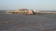 Old Pier Birnbeck Island Weston-super-Mare Somerset England Stock Footage