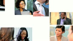 Montage Successful Multi Ethnic Career Business People - stock footage