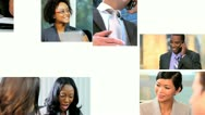 Stock Video Footage of Montage Successful Multi Ethnic Career Business People