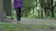 Stock Video Footage of A girl walking with flowers