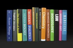Books - Various subjects - stock photo