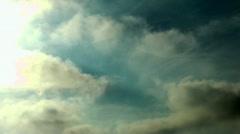 Cloudy Sky, Clouds, Sunlight - stock footage