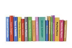 Books - Genius subjects - stock photo