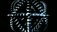 Several cogwheels are rotating on the same axis Stock Footage