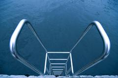 Hand-rails over water Stock Photos