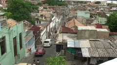 Santiago de Cuba, Overview of old houses Stock Footage