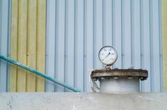 Petrokemian tai teollisuus painemittari Kuvituskuvat