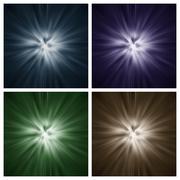 Neljä Starburst tekee Kuvituskuvat