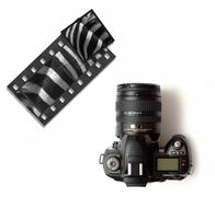 digital slr or slide 35mm camera - stock photo