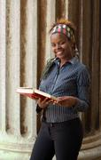 african american college student - stock photo