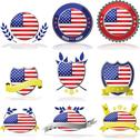 Stock Illustration of usa badges