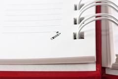 spiral notebook - stock photo