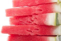 Fresh slices of watermelon Stock Photos