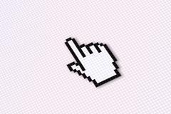 Computing - pointer close up - stock illustration