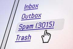 Email screen - spam Stock Photos