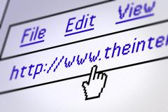 Computing - web browser - stock photo