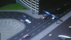 City Traffic, Cars, Trucks, Buses, 3D Stock Footage