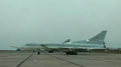 Tu-22М3. NATO codification: Backfire. Distant supersonic rocket carrier bomber - stock footage