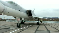 Tu-22М3 Backfire, can put satellites to Earth orbit, bear the nuclear weapon - stock footage