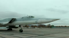 Supersonic planes of the Tu-22М3 series, maximum bombing loading of 24000 kg - stock footage