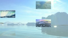 Montage Images Contrasting Water Power World Environments Stock Footage