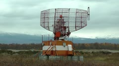 Radar station in work. The main car for definition of flying planes Stock Footage
