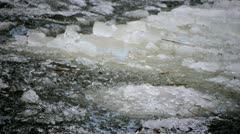 Drifting of Ice Cracked Stock Footage