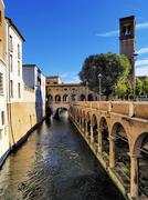 canal in mantua, lombardy, italy - stock photo