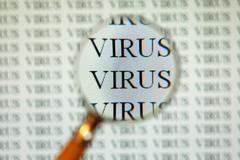 Virus on computer Stock Photos