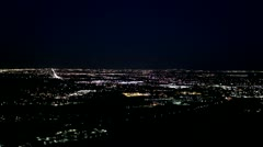 Blackout over a night city scene Stock Footage