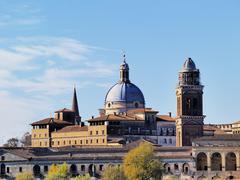 mantua cityscape, lombardy, italy - stock photo