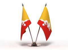 Miniature flag of bhutan (isolated) Stock Illustration