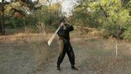 Ninja with sword Stock Footage