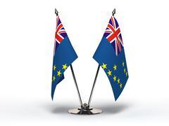 Miniature flag of tuvalu (isolated) Stock Illustration