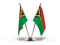 Miniature flag of vanuatu (isolated) Stock Illustration