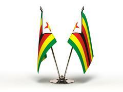 miniature flag of zimbabwe (isolated) - stock illustration