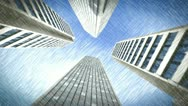 Drawing skyscraper view Stock Footage