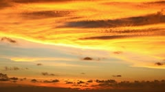 Stock Video Footage of orange sunset sky - time-lapse