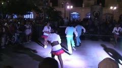 Santiago de Cuba, Ruenda de Casino on plaza part 2 of 5 Stock Footage