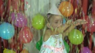 Child's Birthday, Little Girl's Party Stock Footage