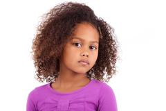 cute young african asian girl - stock photo