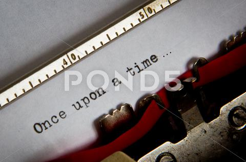 Stock photo of typewriter text