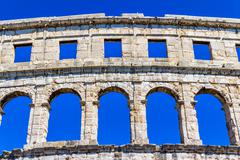 arena in pula - stock photo