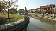 Prato della Valle, Padua Stock Footage