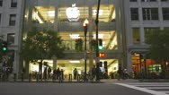 Apple Store At Night Stock Footage