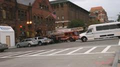 Boston City Traffic Stock Footage
