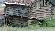 Stock Video Footage of Anatolian old shack villager house in the forest