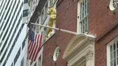 Boston Old State House Flag Stock Footage
