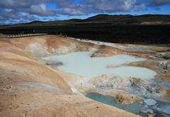 Sulfur pool at leirhnjukur, krafla iceland Stock Photos