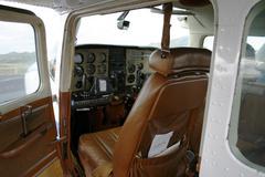 Inside a small plane Stock Photos